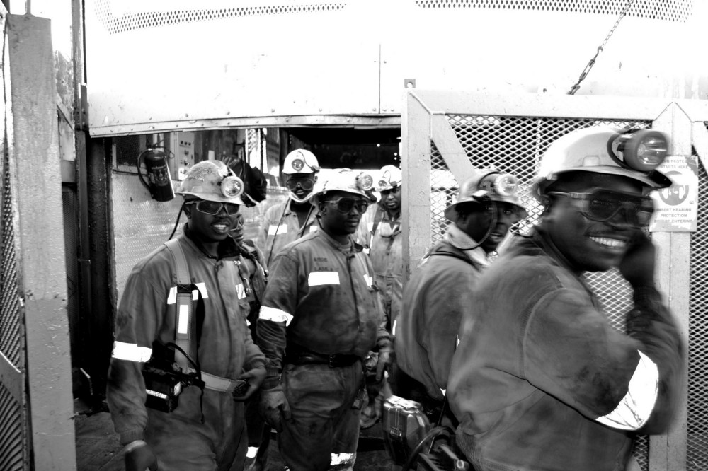 Coal miners at the end of their shift (Jan Truter)