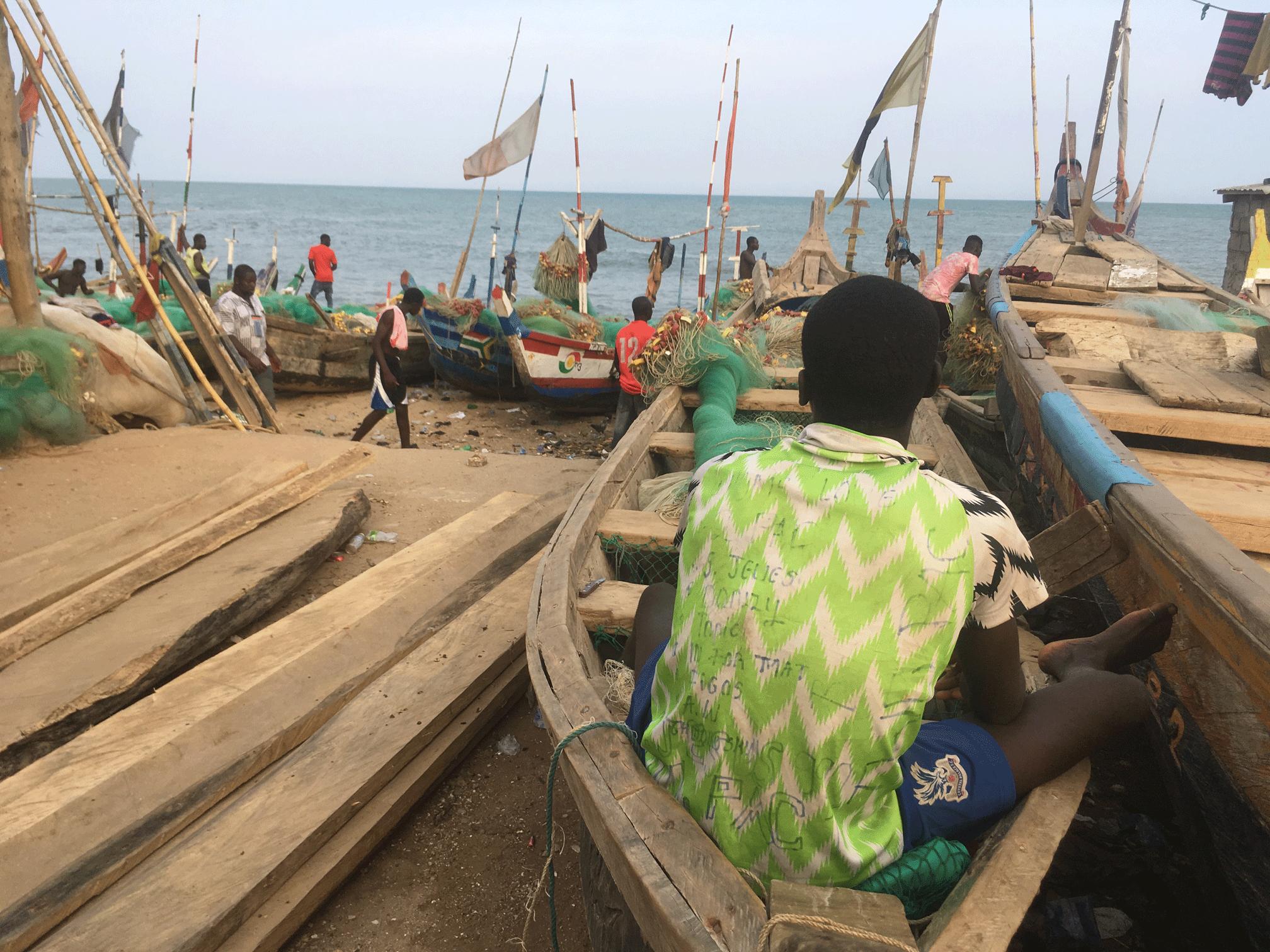 A fisherman in Anaafo, Ghana.